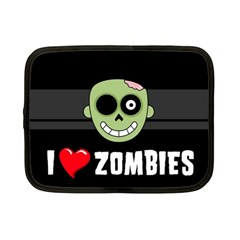 I Love Zombies Netbook Case (Small)