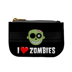 I Love Zombies Coin Change Purse