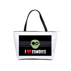 I Love Zombies Large Shoulder Bag