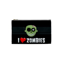 I Love Zombies Cosmetic Bag (Small)