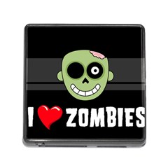 I Love Zombies Memory Card Reader With Storage (square)