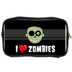 I Love Zombies Travel Toiletry Bag (two Sides)