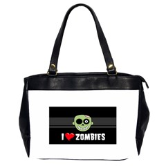 I Love Zombies Oversize Office Handbag (Two Sides)