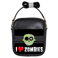 I Love Zombies Girl s Sling Bag