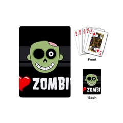 I Love Zombies Playing Cards (mini)