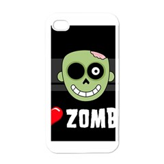 I Love Zombies Apple Iphone 4 Case (white)
