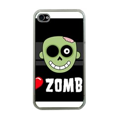 I Love Zombies Apple iPhone 4 Case (Clear)