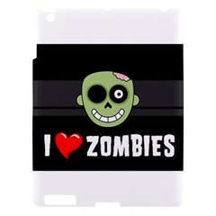 I Love Zombies Apple Ipad 3/4 Hardshell Case