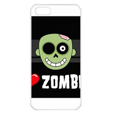 I Love Zombies Apple Iphone 5 Seamless Case (white)