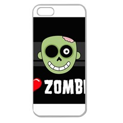 I Love Zombies Apple Seamless iPhone 5 Case (Clear)