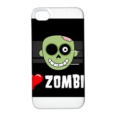 I Love Zombies Apple iPhone 4/4S Hardshell Case with Stand