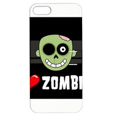 I Love Zombies Apple Iphone 5 Hardshell Case With Stand