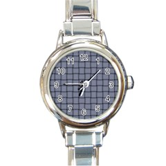 Cool Gray Weave Round Italian Charm Watch