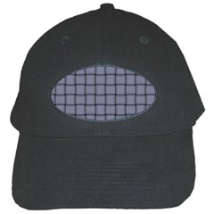 Cool Gray Weave Black Baseball Cap