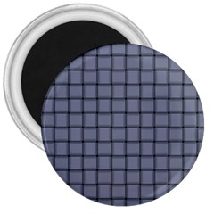 Cool Gray Weave 3  Button Magnet