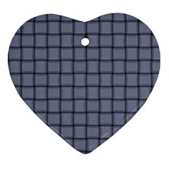 Cool Gray Weave Heart Ornament
