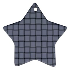 Cool Gray Weave Star Ornament