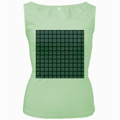 Cool Gray Weave Womens  Tank Top (Green)