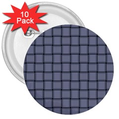 Cool Gray Weave 3  Button (10 pack)