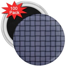 Cool Gray Weave 3  Button Magnet (100 pack)