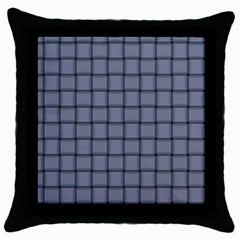 Cool Gray Weave Black Throw Pillow Case
