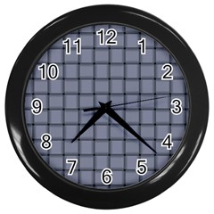 Cool Gray Weave Wall Clock (black)