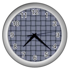Cool Gray Weave Wall Clock (Silver)