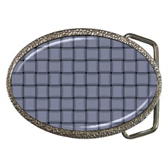 Cool Gray Weave Belt Buckle (Oval)