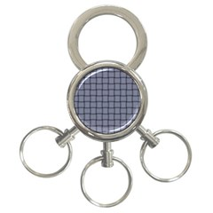 Cool Gray Weave 3 Ring Key Chain