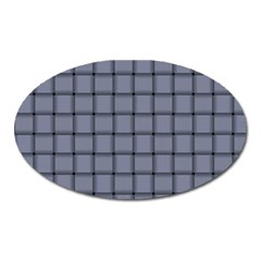 Cool Gray Weave Magnet (oval)