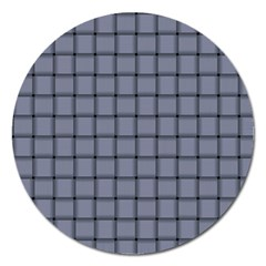 Cool Gray Weave Magnet 5  (Round)
