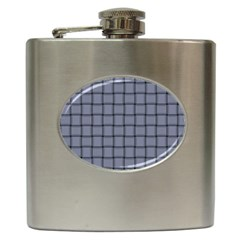 Cool Gray Weave Hip Flask
