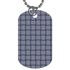 Cool Gray Weave Dog Tag (Two Sided)