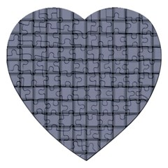 Cool Gray Weave Jigsaw Puzzle (Heart)