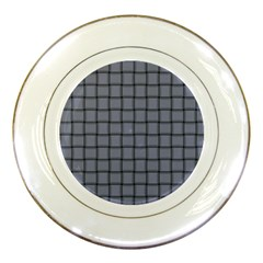 Cool Gray Weave Porcelain Display Plate
