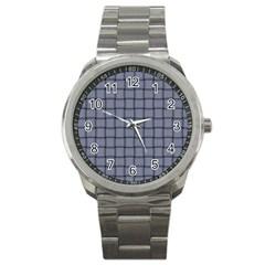 Cool Gray Weave Sport Metal Watch