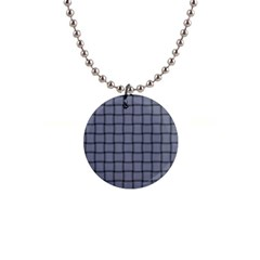 Cool Gray Weave Button Necklace