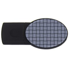 Cool Gray Weave 4GB USB Flash Drive (Oval)
