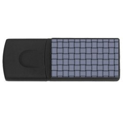 Cool Gray Weave 4GB USB Flash Drive (Rectangle)