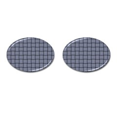 Cool Gray Weave Cufflinks (Oval)