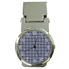 Cool Gray Weave Money Clip With Watch