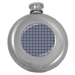 Cool Gray Weave Hip Flask (Round)