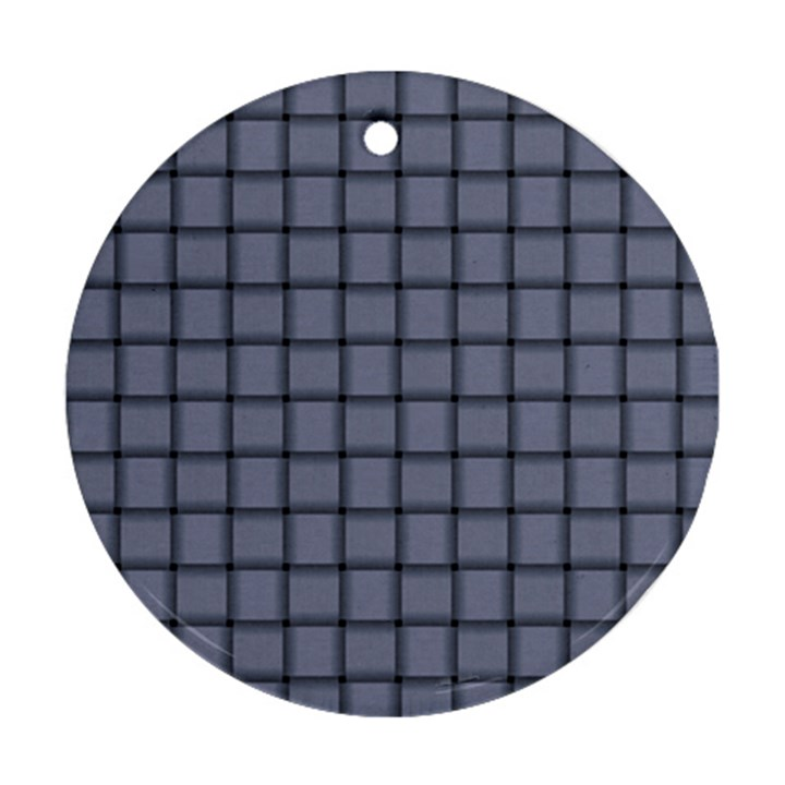 Cool Gray Weave Round Ornament (Two Sides)