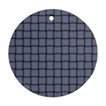Cool Gray Weave Round Ornament (Two Sides) Back