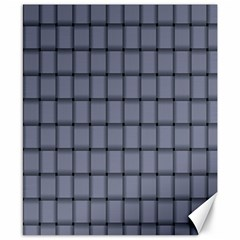 Cool Gray Weave Canvas 8  X 10  (unframed)