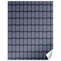 Cool Gray Weave Canvas 12  x 16  (Unframed)