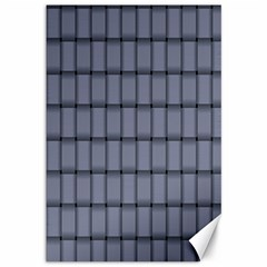Cool Gray Weave Canvas 12  X 18  (unframed)