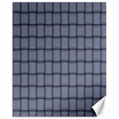 Cool Gray Weave Canvas 16  X 20  (unframed)