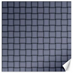 Cool Gray Weave Canvas 20  x 20  (Unframed)