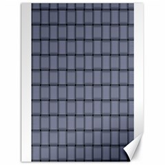 Cool Gray Weave Canvas 18  x 24  (Unframed)